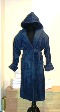 Indulgence Luxury Bamboo/Combed Cotton Hooded Bathrobe